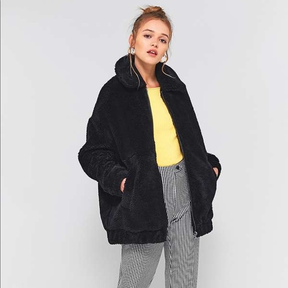 1ddba8ab8 ⚡️Price Drop‼️UO light before dark teddy coat